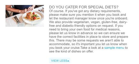 Marella 90s cruise vegan FAQ answer