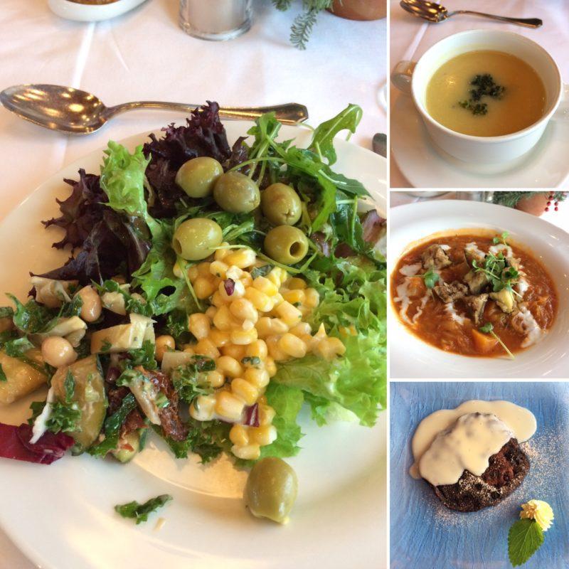 vegan travel vegan river cruise lunch collage