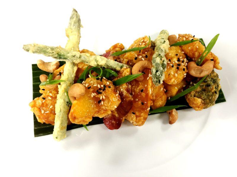 Regent Seven Seas plantbased vegan menu sweet and sour tofu