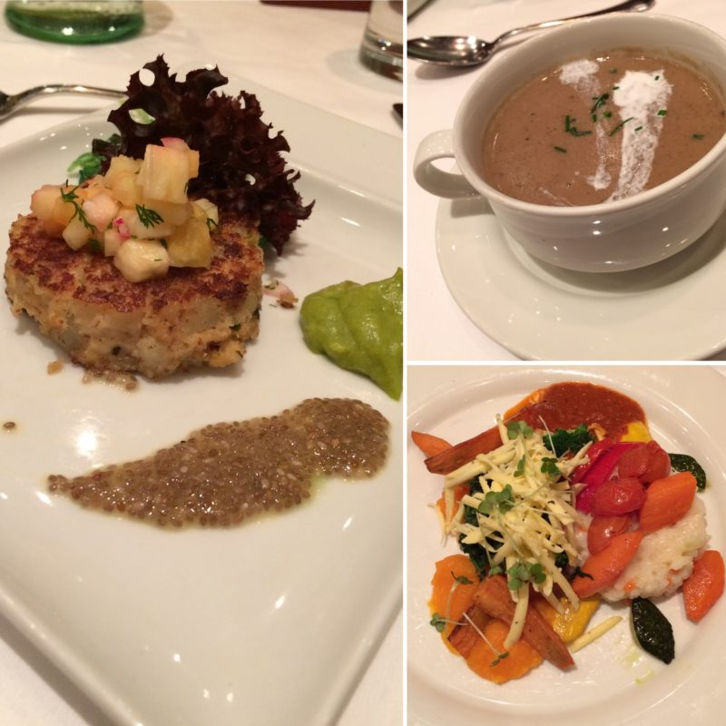 vegan travel river cruise dinner