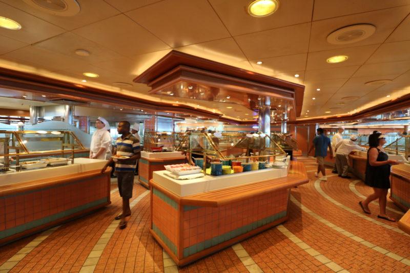 Crown Princess Horizon Court buffet meal station