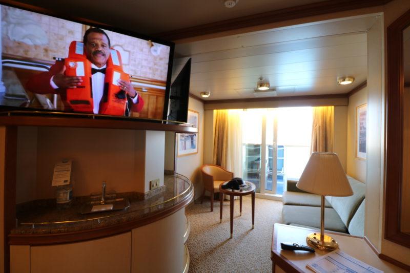 Mini suite lounge area Crown Princess