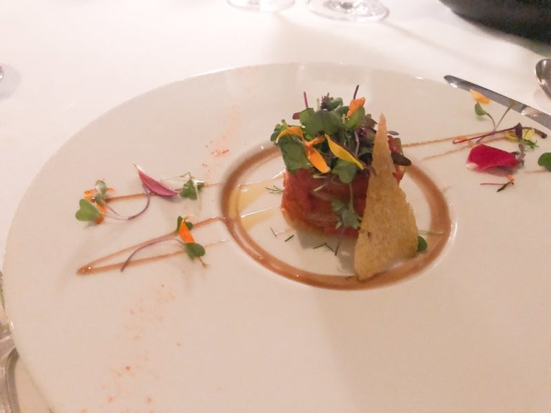 Vegan dish on Paul Gauguin cruises, beautifully plated taken by Tips for Travellers