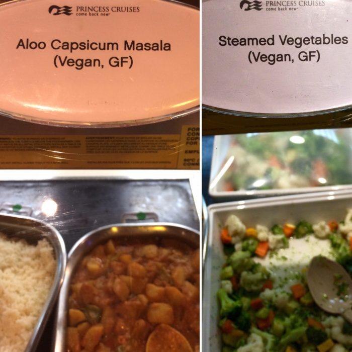 Crown Princess dinner vegan main