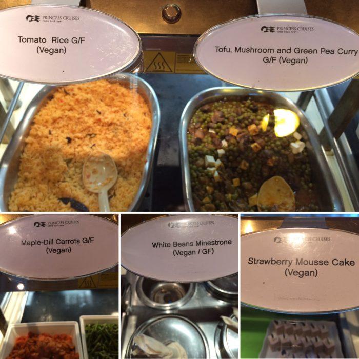 Crown Princess vegan lunch tofu curry