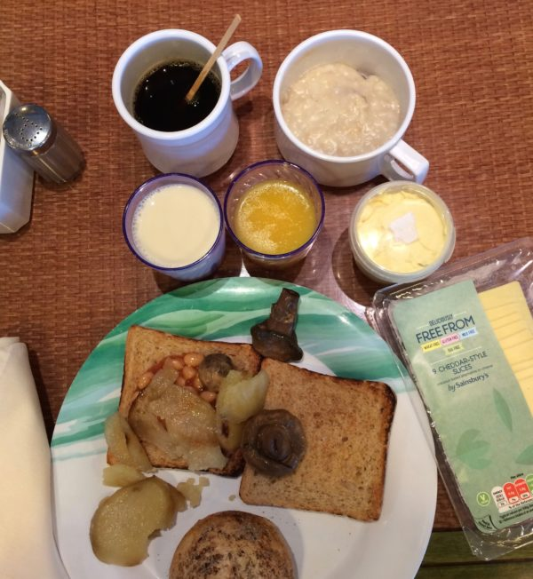 Crown Princess vegan buffet breakfast with own extras