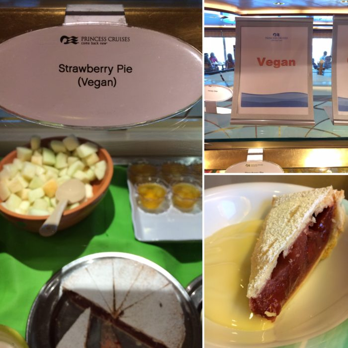 Crown Princess strawberry tart vegan buffet dessert