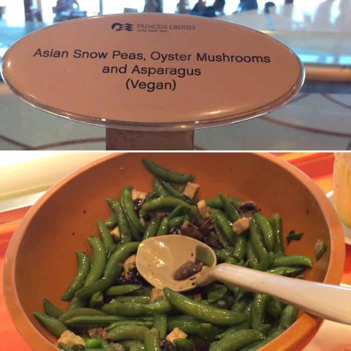 Crown Princess vegan salad
