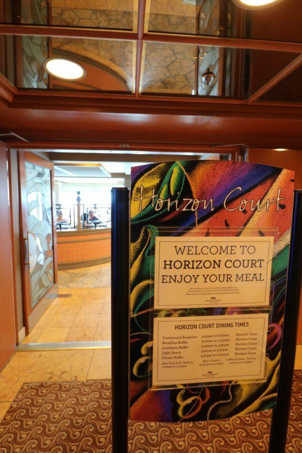 Crown Princess Horizon court sign