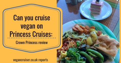Crown Princess vegan options featured post image with buffet dish
