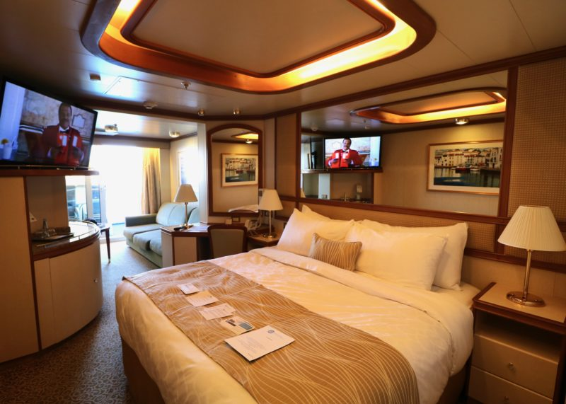 free cabin upgrades on Princess Cruises from balcony to mini-suite, Crown Princess mini-suite pictured