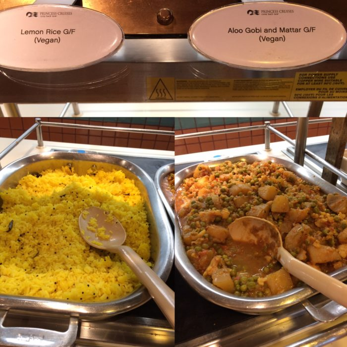 Crown Princes vegan curry in buffet