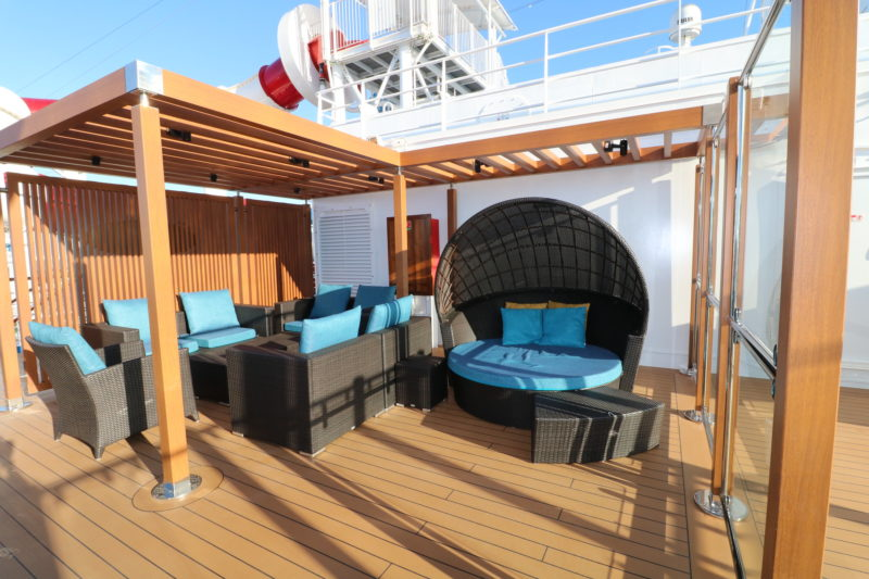 Carnival Panorama serenity deck free adult only sun deck on Horizon