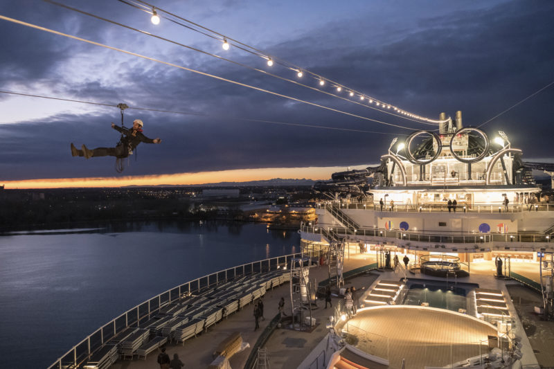 MSC Seaside press image zipline