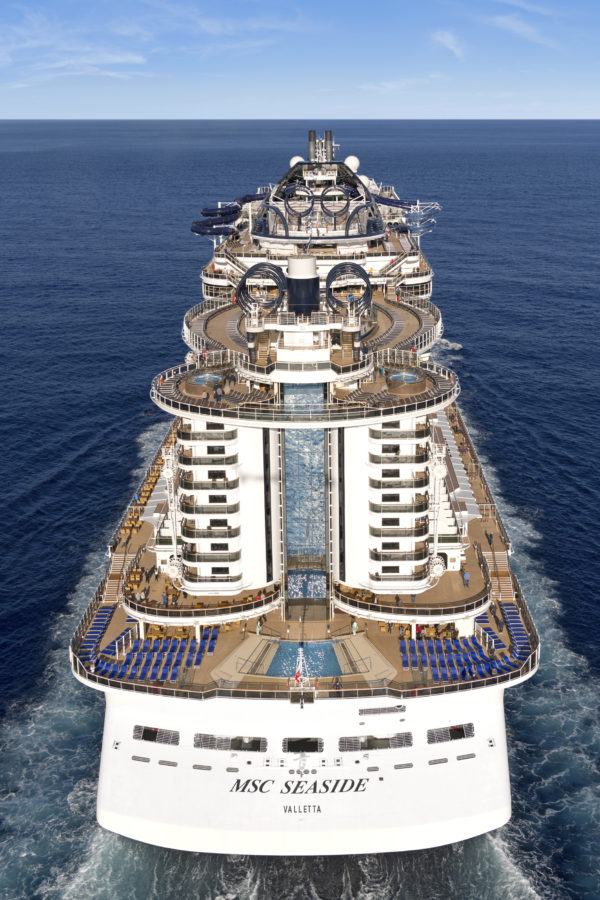 MSC Seaside UK PR team image of the art deco aft
