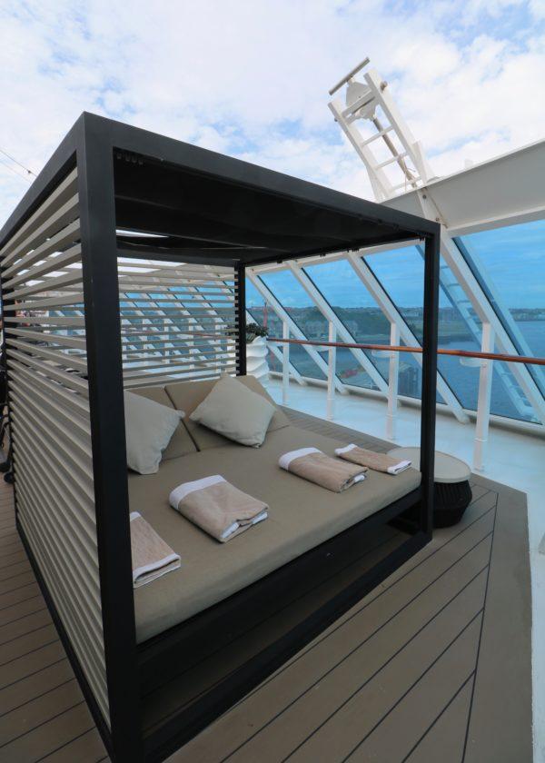 Azamara Journey spa deck bed