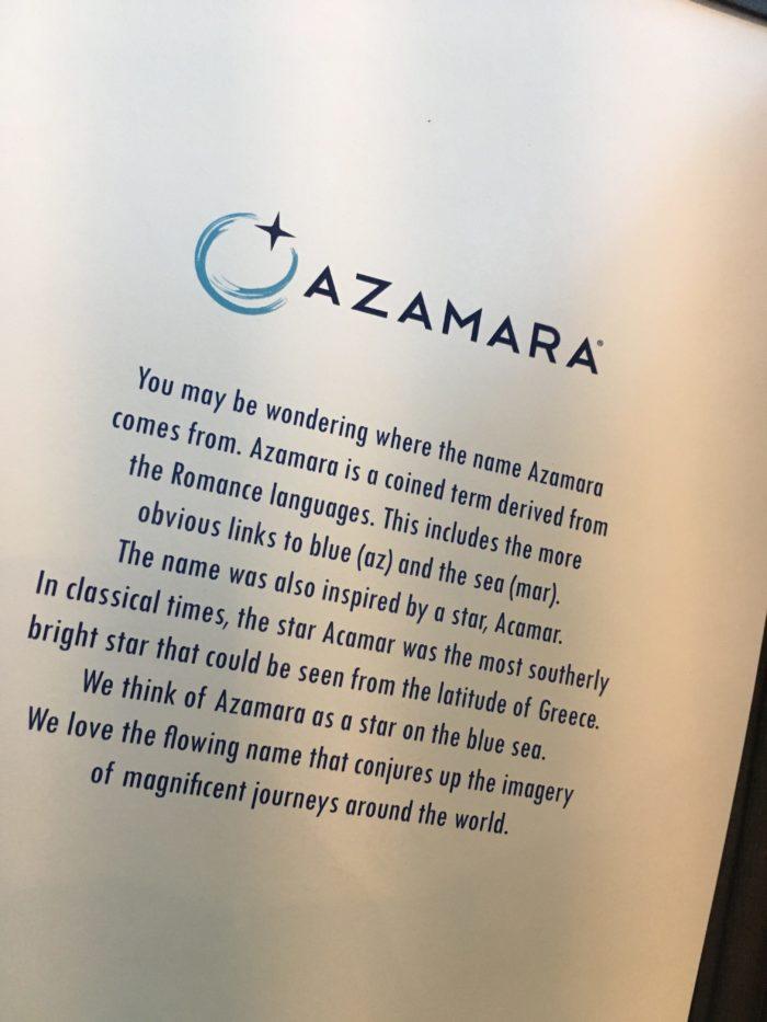 Azamara meaning of name