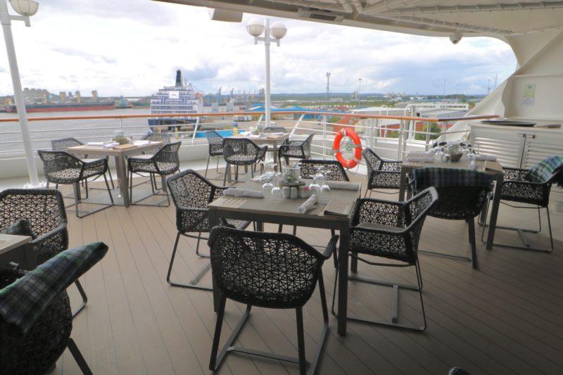 Sunset Bar Windows Cafe buffet aft