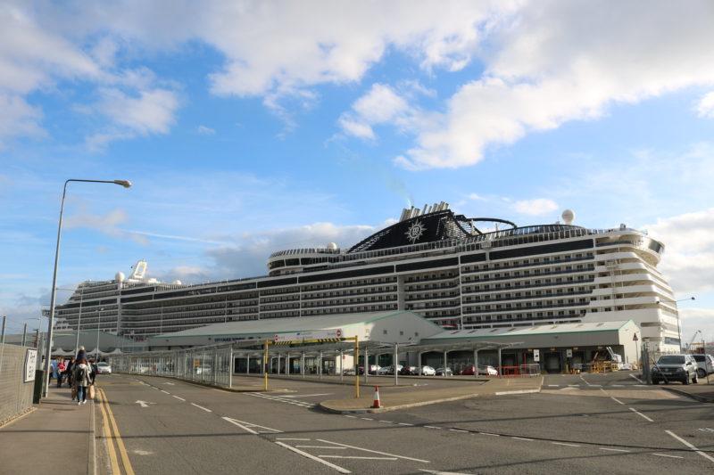 MSC Meraviglia in Southampton port