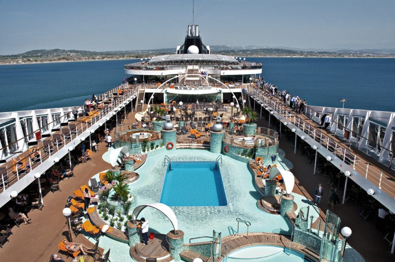 To be Extended MSC Magnifica pool deck