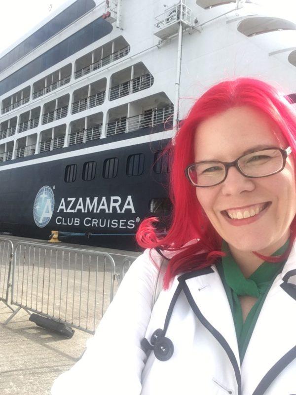 Vegancruiser by Azamara Journey in port