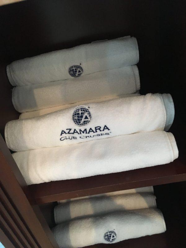 Azamara gym towels with logo