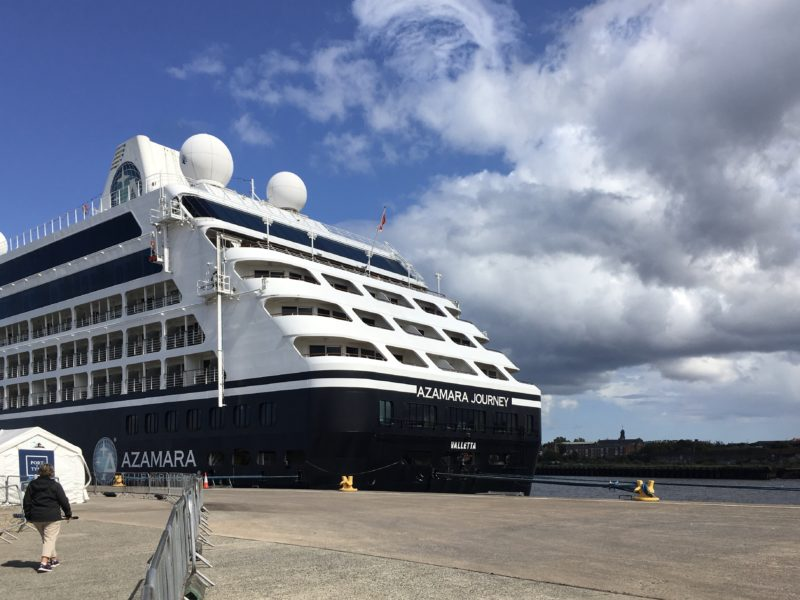 Azamara Journey review tour docked in Newcastle