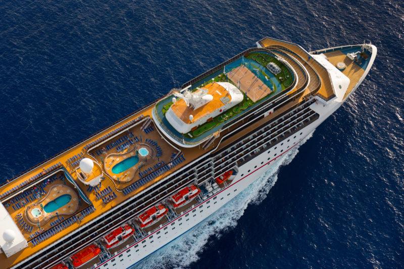 Carnival Legend aerial PR image
