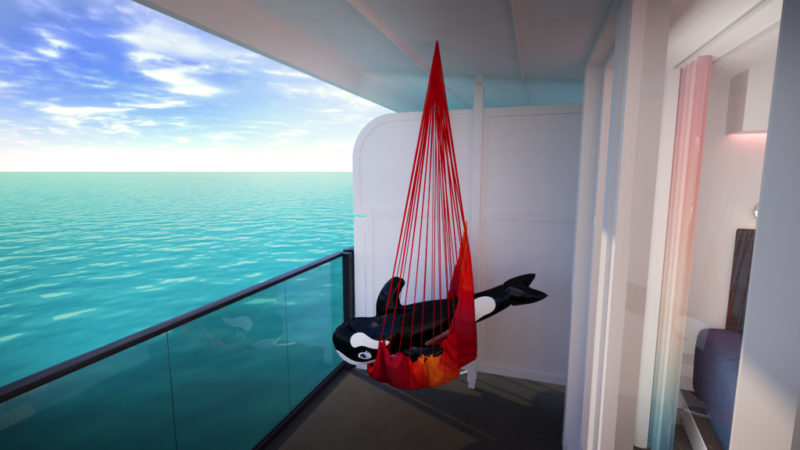 Sea Terrace hammock with a whle lilo in it