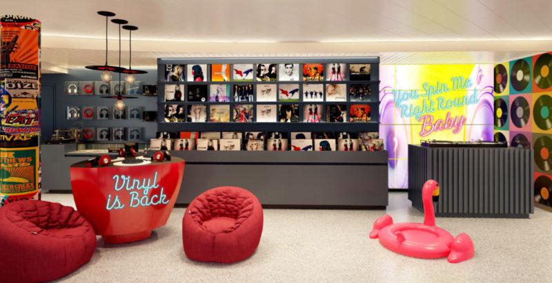 Voyage Vinyl record store onboard Scarlet Lady