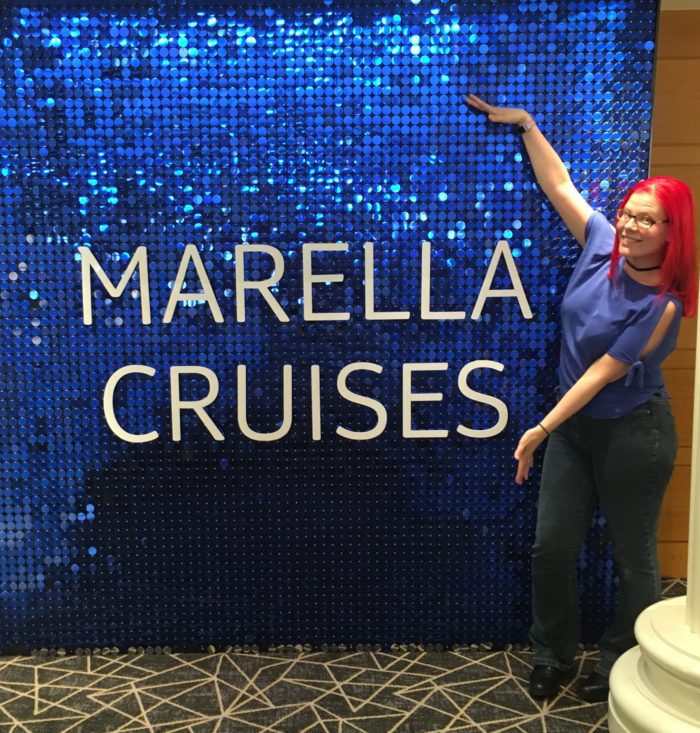 Marella logo wall and sanna vegancruiser