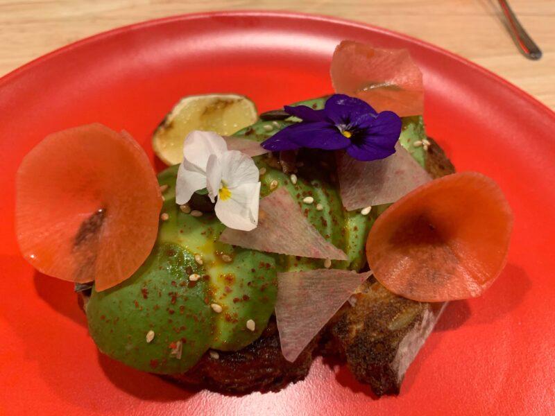 Avocado toast Razzle dazzle vegan Scarlet Lady breakfast option