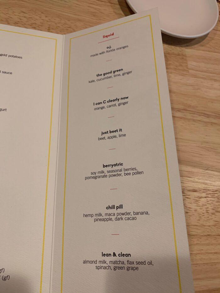 Razzle Dazzle breakfast menu yellow page 3