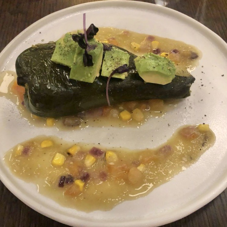 Pink Agave large plates relleno vegano stuffed pepper