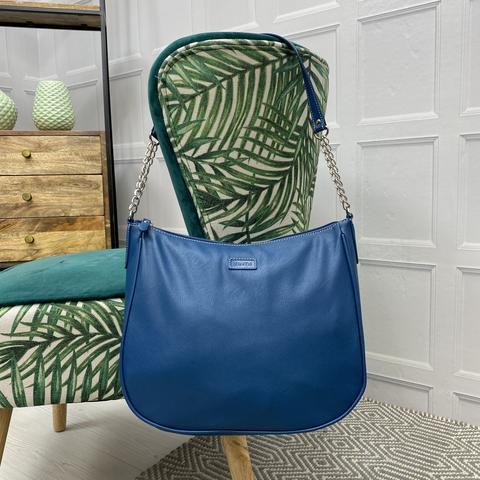 vegan friendly MiaTui bags Charlotte SS21 colour petrol blue