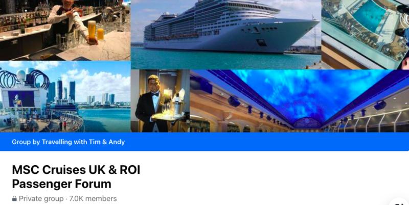 MSC Cruises UK & ROI passenger forum FB