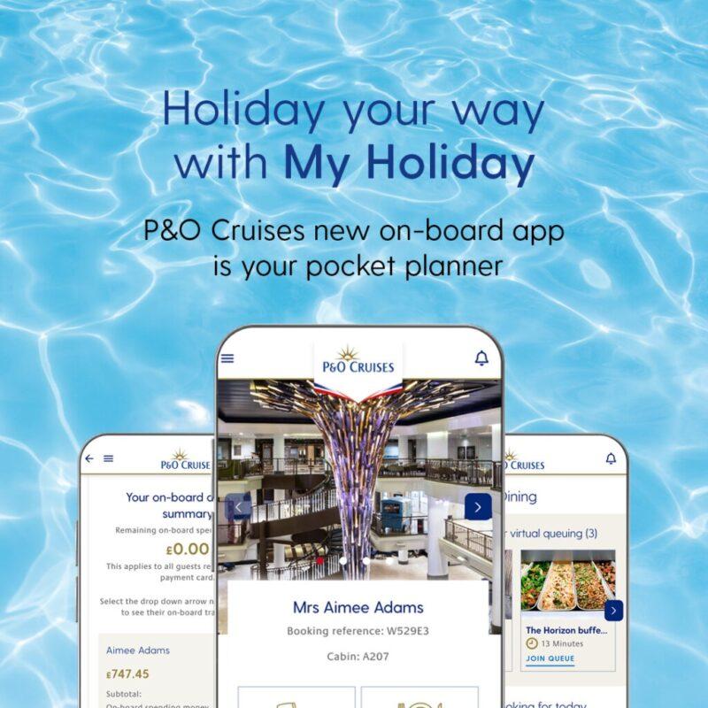 P&O My Holiday app ad