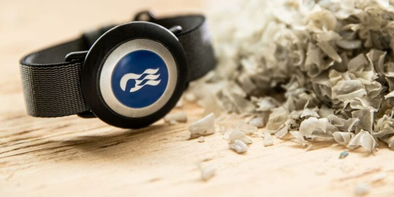 sustainable OceanTide accessories strap and plastic shavings image by Princess Cruises PR
