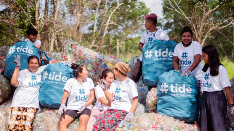 £tide ocean sustainable ocean plastic social enterprice community workers recycling
