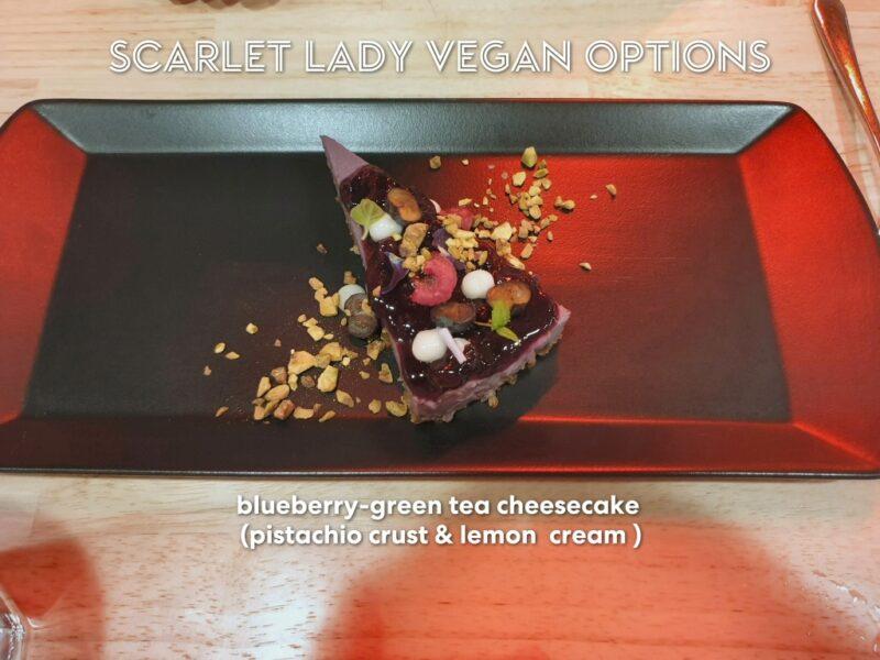 vegan food Virgin Voyages Razzle Dazzle cheesecake