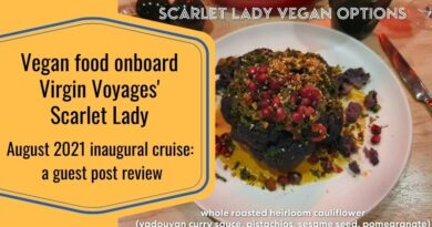 Virgin Voyages Scarlet Lady inaugural cruise vegan food review from August 2021